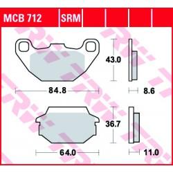Rear brake pads TRW / Lucas Laverda  150 Phoenix 2001 - 2004
