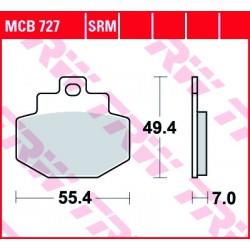 Rear brake pads TRW / Lucas Benelli  150 Adiva 2000 - 2004