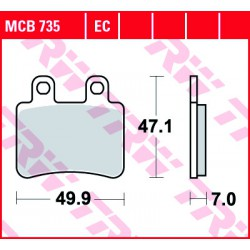 Rear brake pads TRW / Lucas Peugeot  250 Satelis, ABS 2006 -