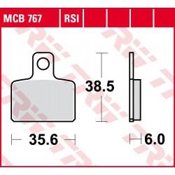 Rear brake pads TRW / Lucas Sherco ST 290  2013 - 2014
