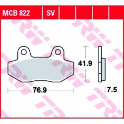 Rear brake pads TRW / Lucas Hyosung ST 700 i 2011 - 2017