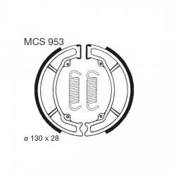 Rear brake pads TRW / Lucas Yamaha XC 180 Cygnus 1983 - 1984