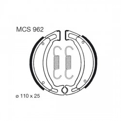 Rear brake pads TRW / Lucas TGB  125 101S, 202T, 303R 1998 -