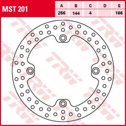 Front brake disc TRW / Lucas Honda XL 700 VATransalpABS 2008 - 2009