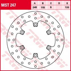 Front brake disc TRW / Lucas Yamaha YP 250 MajestydeLuxe 2000 - 2003