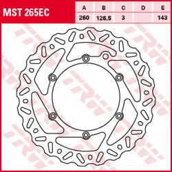 Front brake disc TRW / Lucas KTM EXC 530  2008 - 2012