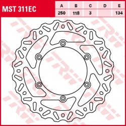 Front brake disc TRW / Lucas Yamaha YZ 450 F 2003 - 2015