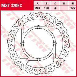 Front brake disc TRW / Lucas Husqvarna WR 300  2009 - 2013