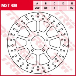 Front brake disc TRW / Lucas Aprilia  200 SportCityCube 2008 - 2009