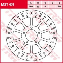 Front brake disc TRW / Lucas Aprilia  400 Scarabeoie 2007 - 2008