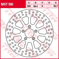 Front brake disc TRW / Lucas Harley-Davidson FLSTC 1584 HeritageSoftailClassic 2007 - 2011