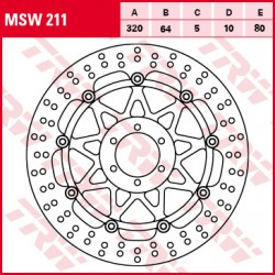Front brake disc TRW / Lucas Moto Guzzi V7 750 Racer,Special,Stone 2010 - 2014