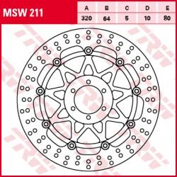 Front brake disc TRW / Lucas Moto Guzzi V7 750 IIRacer,Special,Stone 2015 - 2016
