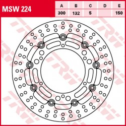 Front brake disc TRW / Lucas Yamaha XT 660 R 2004 - 2011