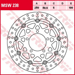 Front brake disc TRW / Lucas Kawasaki ZX-6R 636 Ninja 2003 - 2004