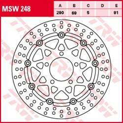 Front brake disc TRW / Lucas Suzuki VLR 1800 C1800RTIntruderTouring 2008 - 2013