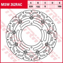 Front brake disc TRW / Lucas Yamaha XVS 950 AMidnightStar 2009 -
