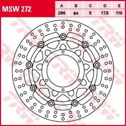 Front brake disc TRW / Lucas Honda CBR 300 R,ABS 2015 -