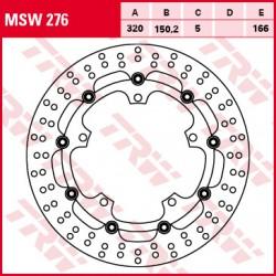 Front brake disc TRW / Lucas Triumph  1050 Speed94,94RABS 2015 -