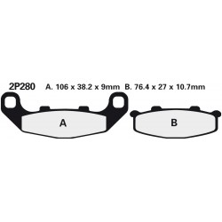 Front brake pads Nissin Kawasaki ZR 550 Zephyr (Germany) fr.no.B024010- 1993 -  type NS