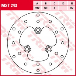 Rear brake disc TRW / Lucas Yamaha NS 50 RAeroxNaked 2013 -