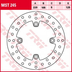 Rear brake disc TRW / Lucas Honda CBR 125 R 2004 - 2007