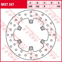Rear brake disc TRW / Lucas Ducati  800 Sport,Supersport 2003 - 2005