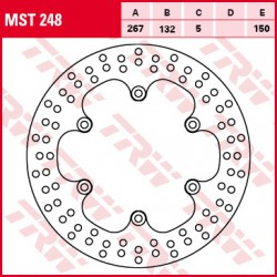 Rear brake disc TRW / Lucas Yamaha MT-01 1670  2005 - 2006