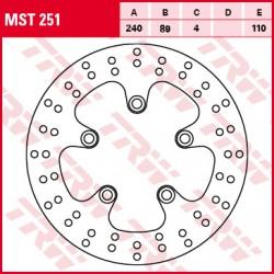 Rear brake disc TRW / Lucas Kawasaki J 300  2014 -