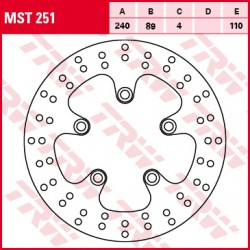 Rear brake disc TRW / Lucas Suzuki GSXR 1100  1989 - 1992