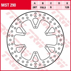 Rear brake disc TRW / Lucas KTM  1050 AdventureABS 2015 -