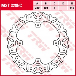 Rear brake disc TRW / Lucas Honda CR 125 R 2002 - 2003
