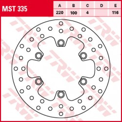 Rear brake disc TRW / Lucas Kawasaki KDX 250  1991 - 1998