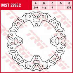 Rear brake disc TRW / Lucas Kawasaki KX 250 F 2006 - 2014