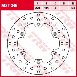 Rear brake disc TRW / Lucas Yamaha YZ 125  1988