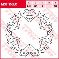 Rear brake disc TRW / Lucas Yamaha YZ 125 CE09C/E1009//1103/1/31/155//116CC 02- 2002 -