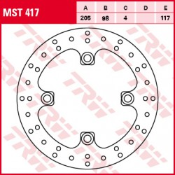 Rear brake disc TRW / Lucas Yamaha YFM 700 Grizzly 2007 -