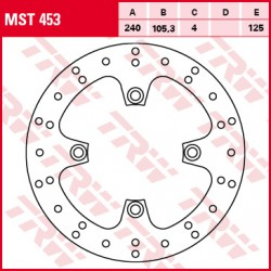 Rear brake disc TRW / Lucas Honda SH 125 i 2009 - 2012