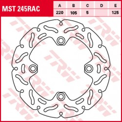Rear brake disc TRW / Lucas Honda CBR 125 R 2008 - 2010