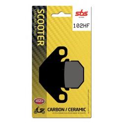 Front brake pads SBS Peugeot  50 Kisbee 2010 - 2014 směs HF