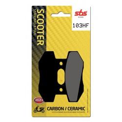 Front brake pads SBS Kymco  110 Spike 2003 - 2006 směs HF