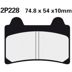 Front brake pads Nissin Yamaha FZR 250 1987 - 1988 type NS