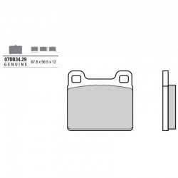 Front brake pads Brembo Can-Am 700 LYNX ENDURO SPECIAL 2002 -  type 29