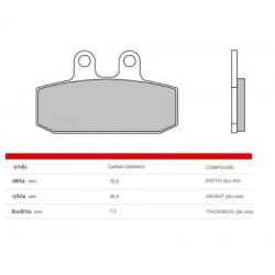 Front brake pads Brembo Gilera 350 XRT 1989 -  type CC