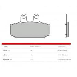 Front brake pads Brembo Simson 125 SCHIKRA 1999 -  type CC