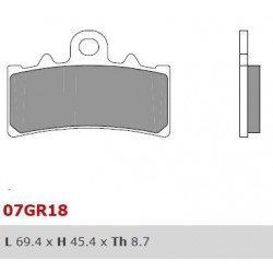 Front brake pads Brembo Husqvarna 401 VITPILEN 2017 -  type CC
