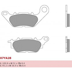 Front brake pads Brembo Yamaha 135 CRYPTON X 2008 -  type CC