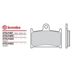 Front brake pads Brembo Triumph 650 DAYTONA 2005 -  type LA