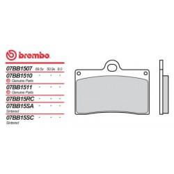 Front brake pads Brembo Gilera 350 SATURNO 1988 -  type LA
