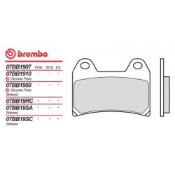 Front brake pads Brembo Ducati 600 MONSTER 600 DARK CITY 2000 -  type LA